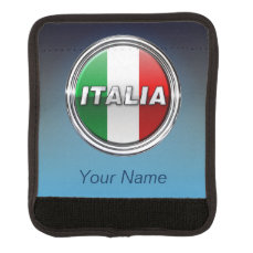 The Italian Flag - La Bandiera d'Italia Luggage Handle Wrap