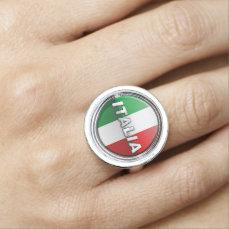 The Italian Flag - La bandiera d'Italia Ring