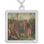 The Italian Image Seller Square Pendant Necklace