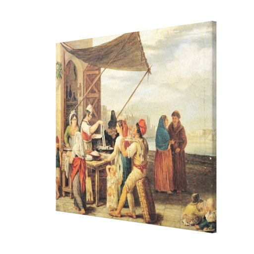 The Italian Market Gallery Wrapped Canvas