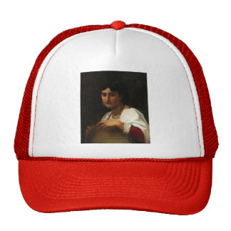The Italian tambourine by William Bouguereau Trucker Hats