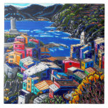 """The """"Italian Village """" decorative art tile<br><div class=""""desc"""">Own this beautiful decorative art tile featuring the image of one of Neil Myers best loved paintings of Italy!</div>"""