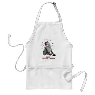 The Itching doG at Christmas Adult Apron