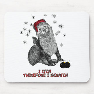 The Itching doG at Christmas Mouse Pad