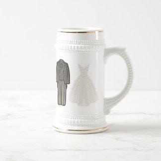 The Ivory Bride & Groom Stein 18 Oz Beer Stein