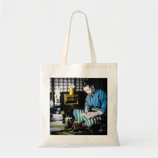 The Ivory Carver Craftsman in Old Japan Vintage Tote Bag