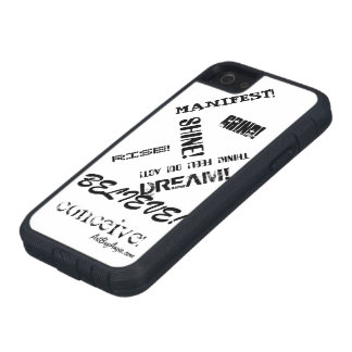 """The iWill™"" style (black & white) iPhone SE/5/5s Case"