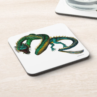 The Jade Dragon Beverage Coaster