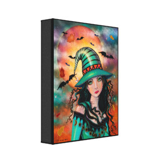 The Jade Witch Halloween Fantasy Art Canvas Print