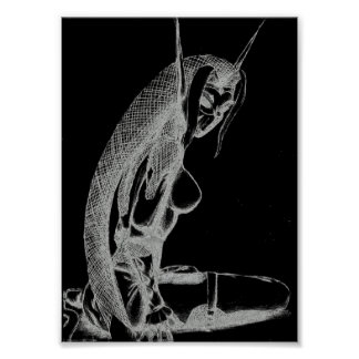 The Jaded Ones Elf Canvas Print(B&W) Poster