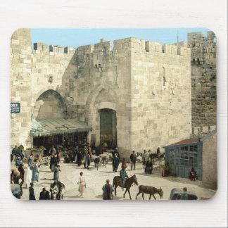 The Jaffa Gate around 1900 Mouse Pad