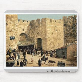The Jaffa Gate, Jerusalem, Holy Land classic Photo Mouse Pad