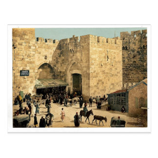The Jaffa Gate, Jerusalem, Holy Land classic Photo Postcard