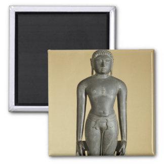 The Jain Tirthankara, Parsvanatha, Rajasthan, Prat 2 Inch Square Magnet
