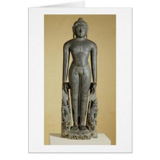 The Jain Tirthankara, Parsvanatha, Rajasthan, Prat Card