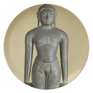 The Jain Tirthankara, Parsvanatha, Rajasthan, Prat Dinner Plate