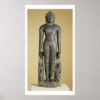 The Jain Tirthankara, Parsvanatha, Rajasthan, Prat Poster