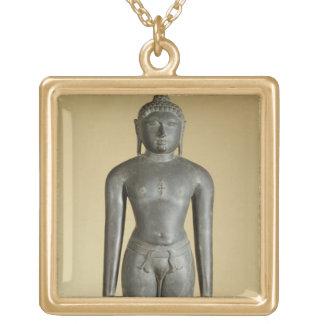 The Jain Tirthankara, Parsvanatha, Rajasthan, Prat Square Pendant Necklace