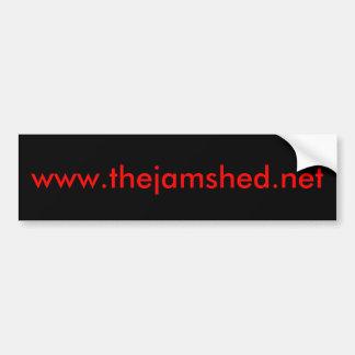 the jam shed logo bumper sticker