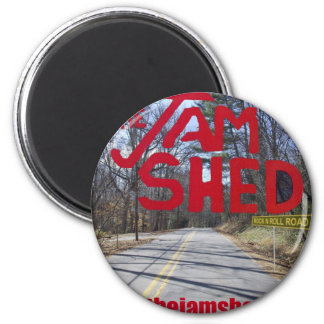 the jam shed logo magnet