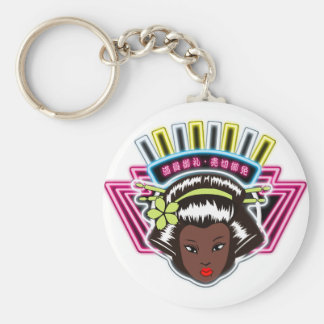 The Jamaican version Basic Round Button Keychain