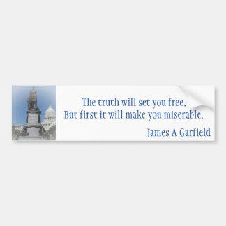 The James A Garfield Monument Bumper Sticker
