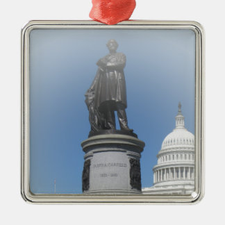 The James A Garfield Monument Metal Ornament