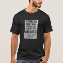 The James Gang vintage wanted poster. T-Shirt