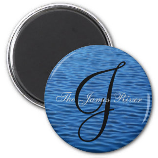 The James River [round] Magnet