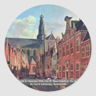 The Jansstraat In Haarlem With The St. Bavochurch Stickers