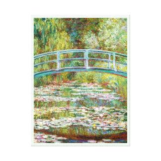 The Japanese Bridge 1899 Claude Monet Stretched Canvas Print