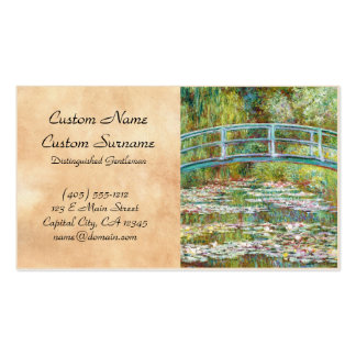 The Japanese Bridge 1899 Claude Monet Double-Sided Standard Business Cards (Pack Of 100)