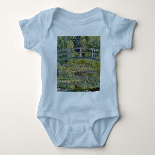 The Japanese Bridge by Claude Monet Baby Bodysuit