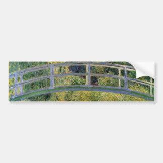 The Japanese Bridge by Claude Monet Car Bumper Sticker