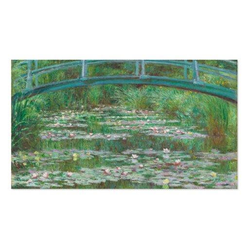 The Japanese bridge Claude Monet Business Card Template