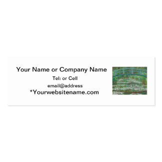 The Japanese bridge Claude Monet Double-Sided Mini Business Cards (Pack Of 20)