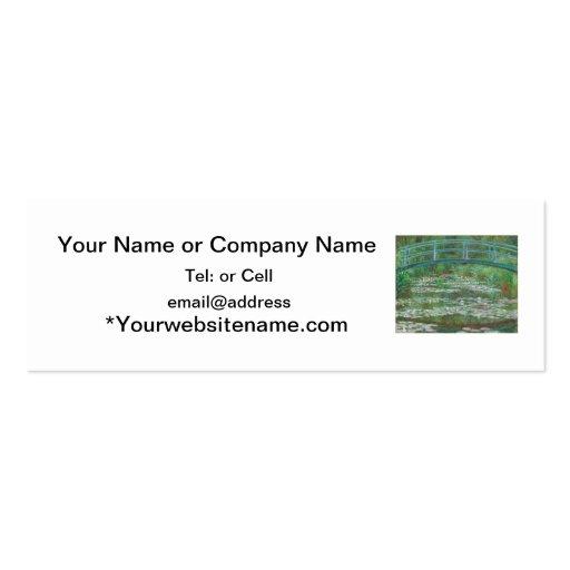 The Japanese bridge Claude Monet Business Card Templates