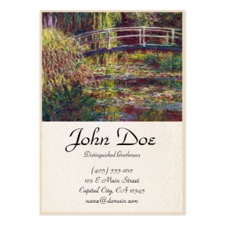 The Japanese Bridge Claude Monet cool, old, master Large Business Cards (Pack Of 100)