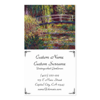 The Japanese Bridge Claude Monet cool, old, master Double-Sided Standard Business Cards (Pack Of 100)