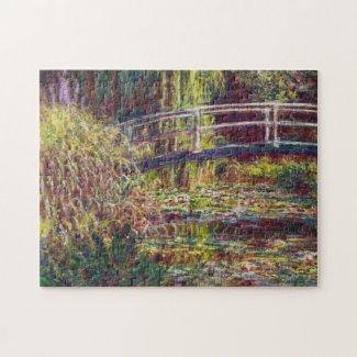The Japanese Bridge Claude Monet cool, old, master Jigsaw Puzzle