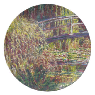 The Japanese Bridge Claude Monet cool, old, master Plate