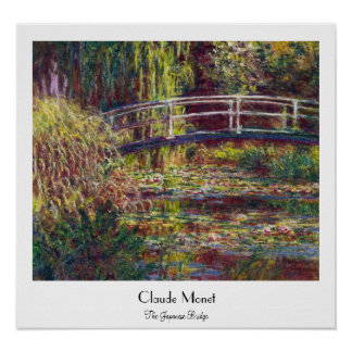 The Japanese Bridge Claude Monet cool, old, master Poster