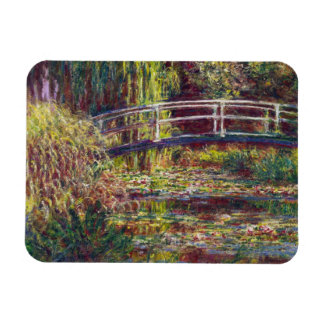 The Japanese Bridge Claude Monet cool, old, master Rectangle Magnets