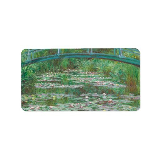 The Japanese bridge Claude Monet Labels