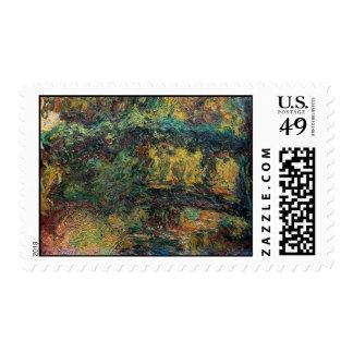The Japanese Bridge - Claude Monet Postage Stamp