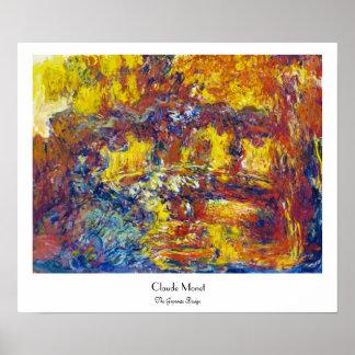 The Japanese Bridge Claude Monet Poster