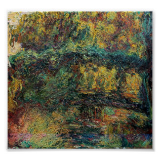 The Japanese Bridge - Claude Monet Posters