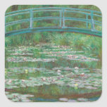 The Japanese bridge Claude Monet Square Sticker