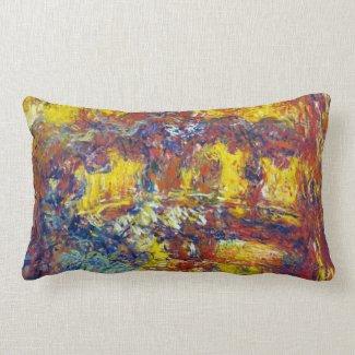 The Japanese Bridge Claude Monet Throw Pillows