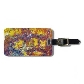 The Japanese Bridge Claude Monet Travel Bag Tag